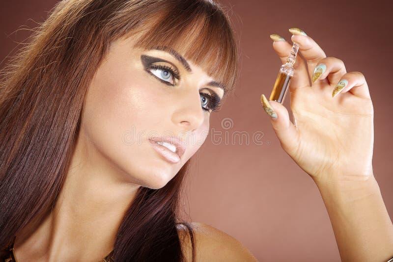 Modello nello stile di Cleopatra immagini stock