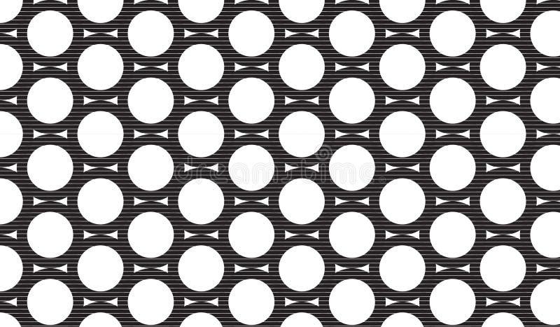 Modello nero astratto moderno semplice della maglia del cerchio fotografie stock libere da diritti
