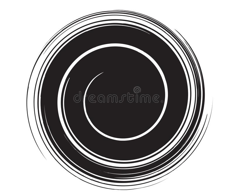 Modello nero di turbinio royalty illustrazione gratis