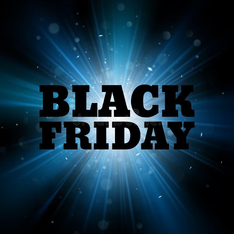 Modello nero di vendita di venerdì Vettore astratto di scoppio ENV 10 del blu di esplosione illustrazione di stock