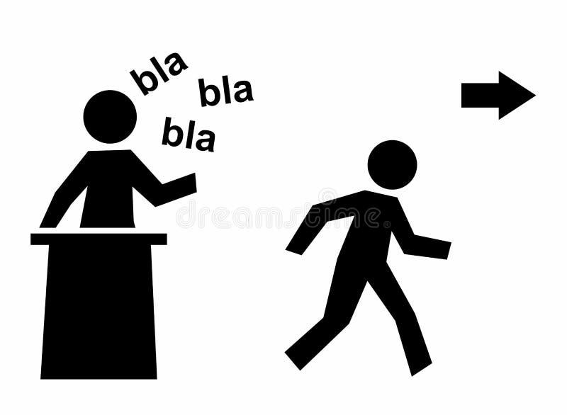 Modello noioso di discorso illustrazione vettoriale