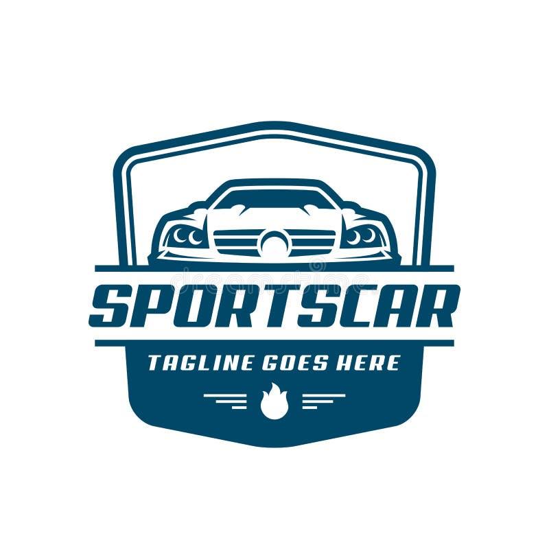 Modello o icona di logo dell'automobile sportiva illustrazione vettoriale