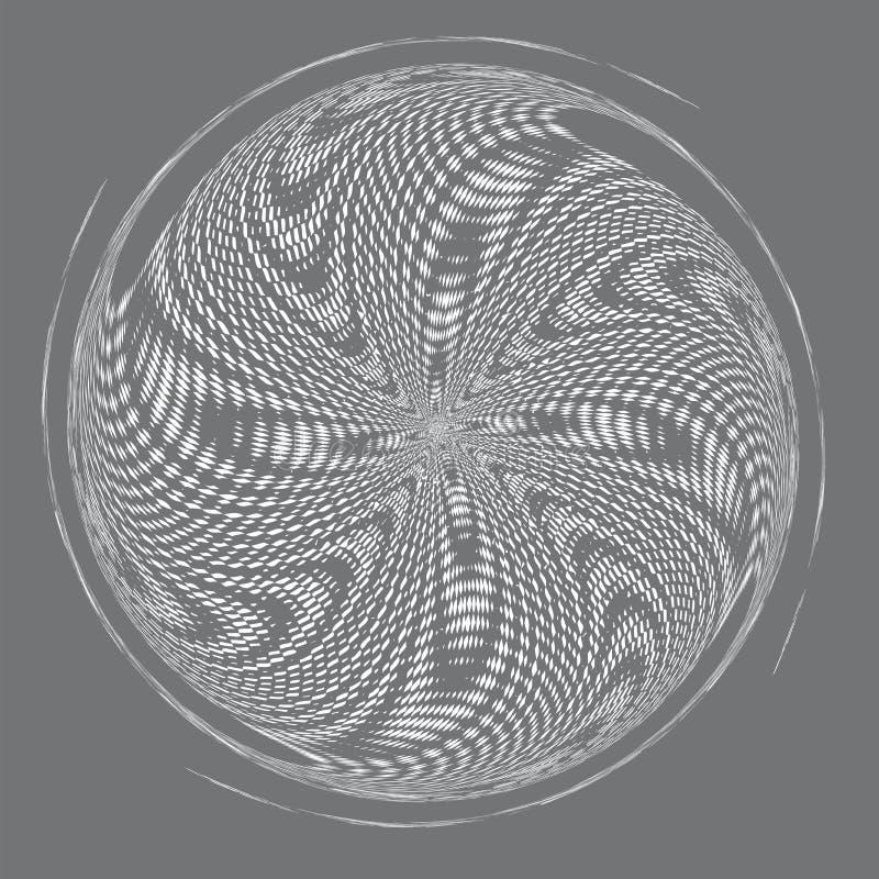 Modello o struttura di semitono punteggiato di spirale di vettore illustrazione di stock
