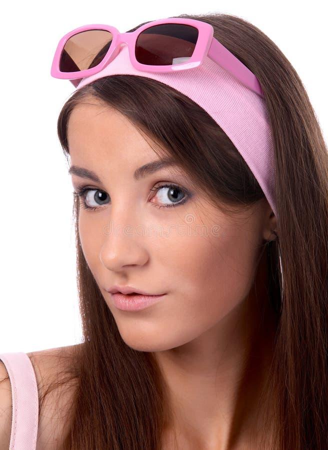 Download Modello In Occhiali Da Sole Dentellare Fotografia Stock - Immagine di felicità, cute: 7323480