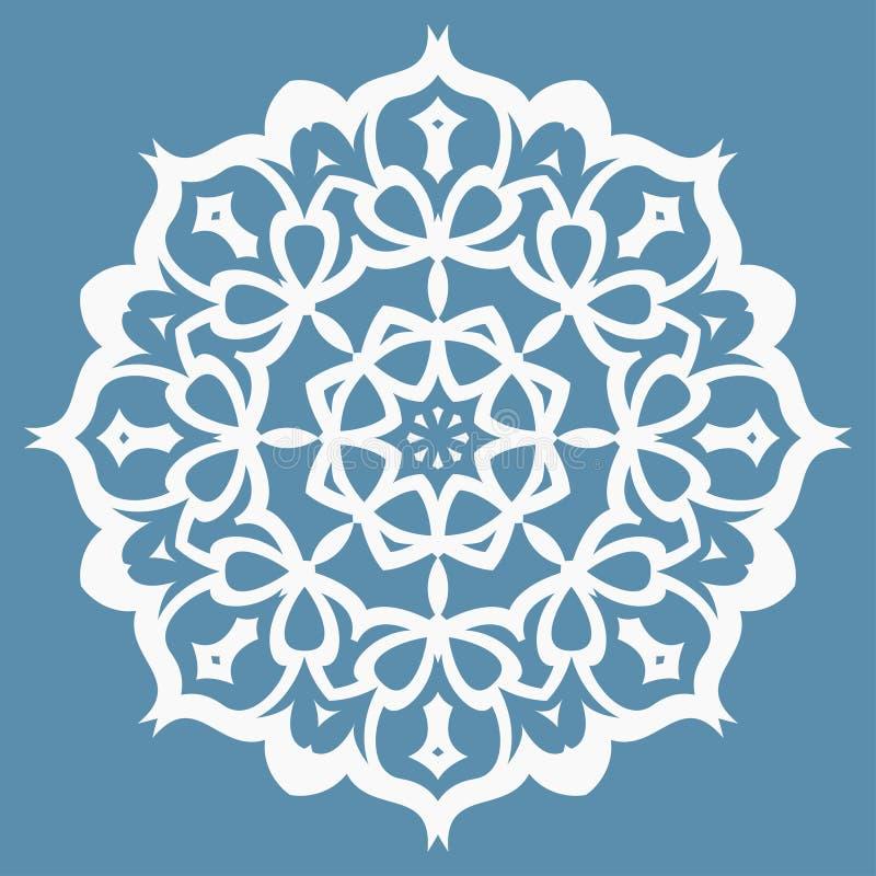 Modello orientale con gli arabesque e gli elementi floreali royalty illustrazione gratis