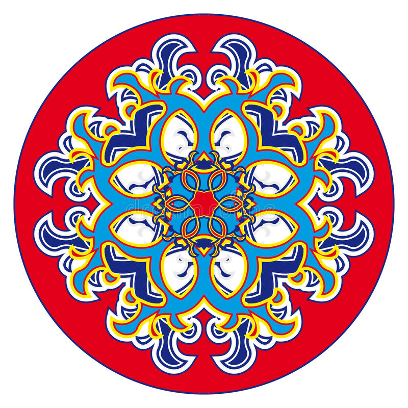 Modello orientale della rosetta illustrazione di stock
