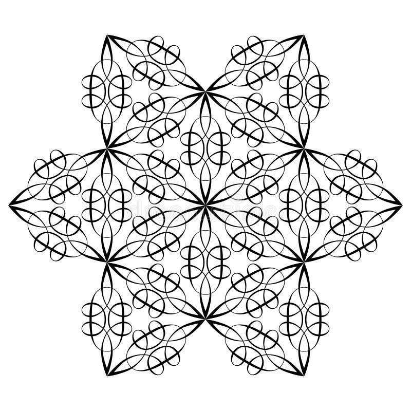 Modello orientale Mandala del fiore Elementi decorativi dell'annata Illustrazione di vettore illustrazione vettoriale