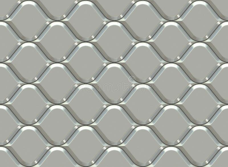 Modello ornamentale d'argento Reticolo senza giunte arabo Illustrazione senza cuciture 3d di alta qualità illustrazione vettoriale
