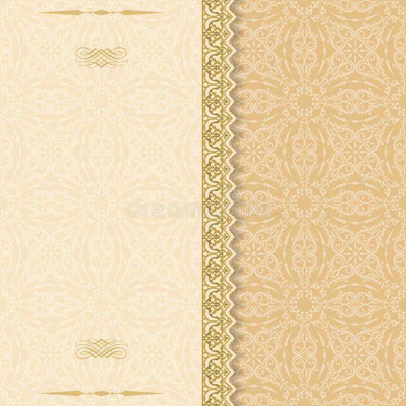 Modello ornamentale del damasco illustrazione di stock