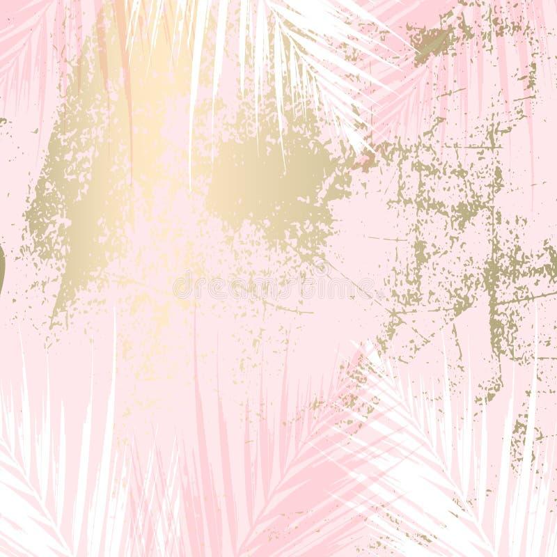 Modello pastello elegante dell'oro di marmo d'avanguardia astratto illustrazione vettoriale