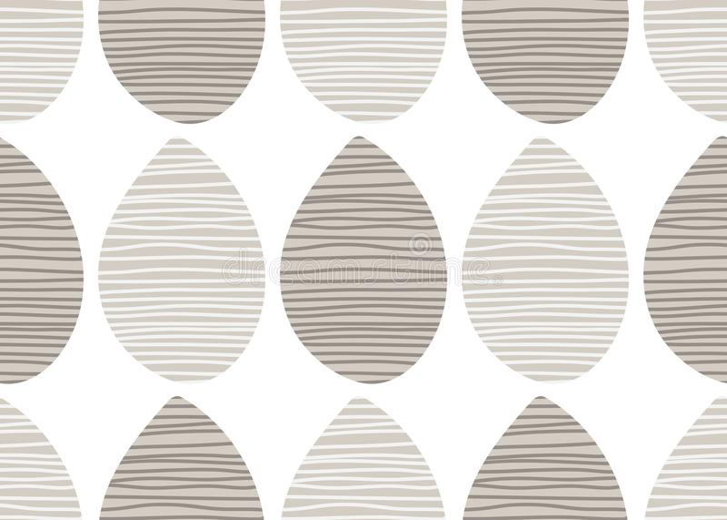 Modello pastello senza cuciture di vettore Ornamento a strisce del tessuto Illustrazione senza fine della stampa del tessuto Elem illustrazione vettoriale