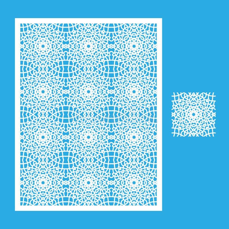 Modello per il taglio del laser illustrazione vettoriale
