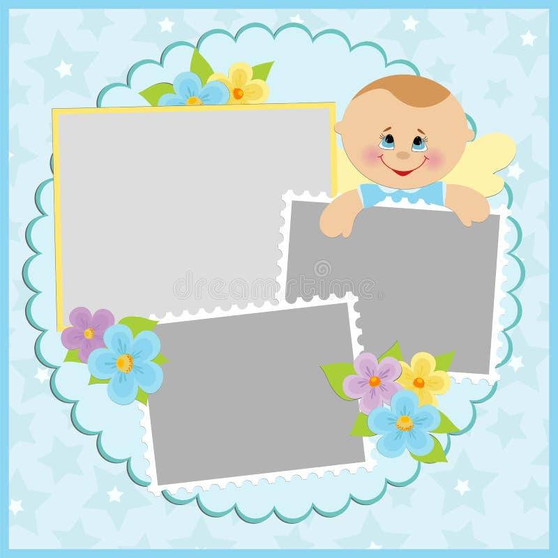 Modello per l'album di foto del bambino illustrazione di stock