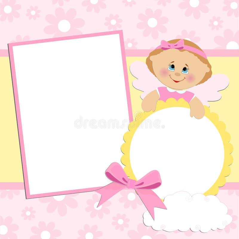 Modello per l'album di foto del bambino illustrazione vettoriale