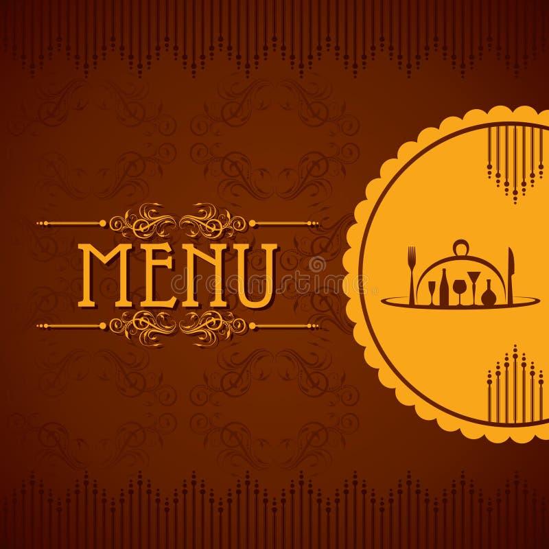 Modello per la carta del menu con la coltelleria royalty illustrazione gratis
