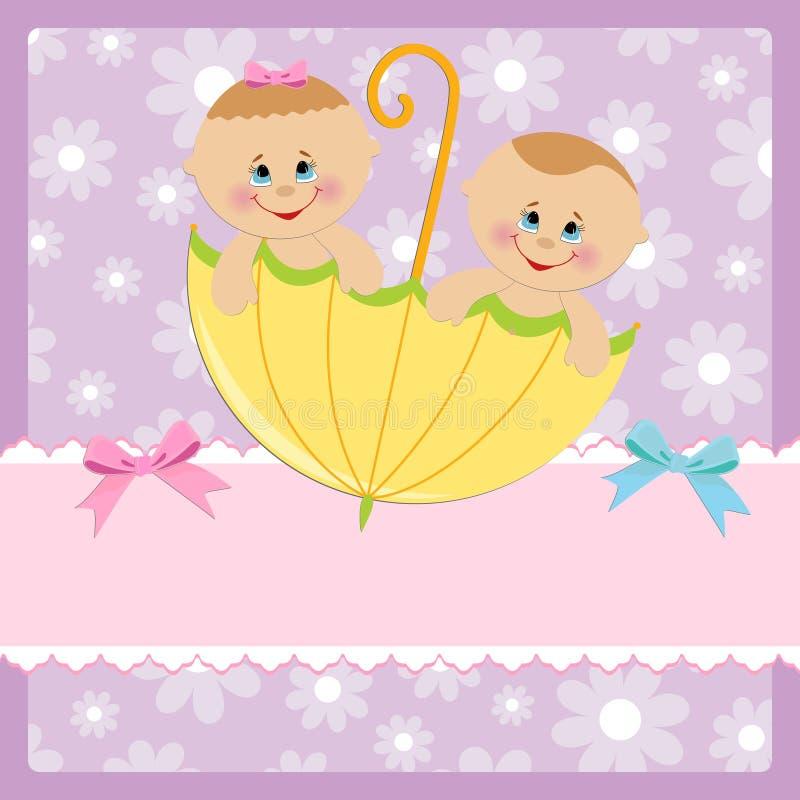Modello per la cartolina del bambino royalty illustrazione gratis