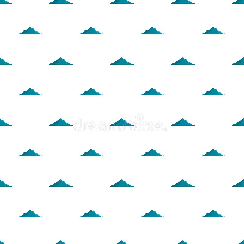 Modello piacevole della montagna senza cuciture illustrazione vettoriale