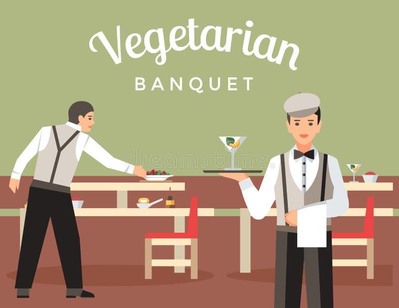 Modello piano dell'insegna di vettore del ristorante francese illustrazione di stock