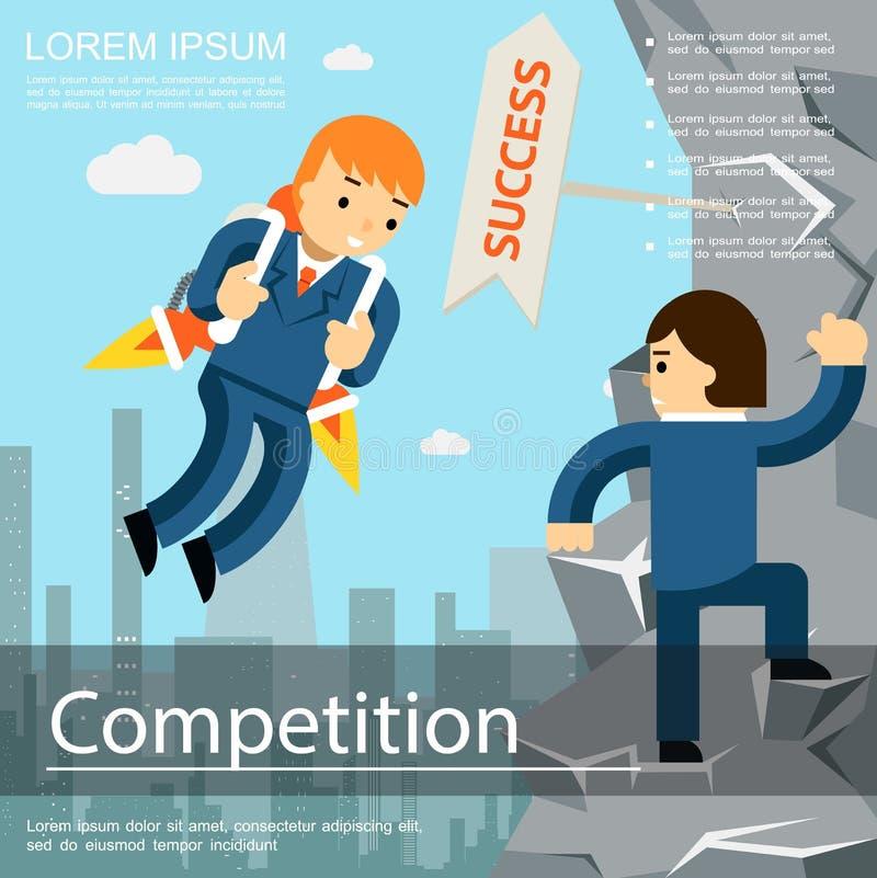 Modello piano della concorrenza di affari illustrazione vettoriale