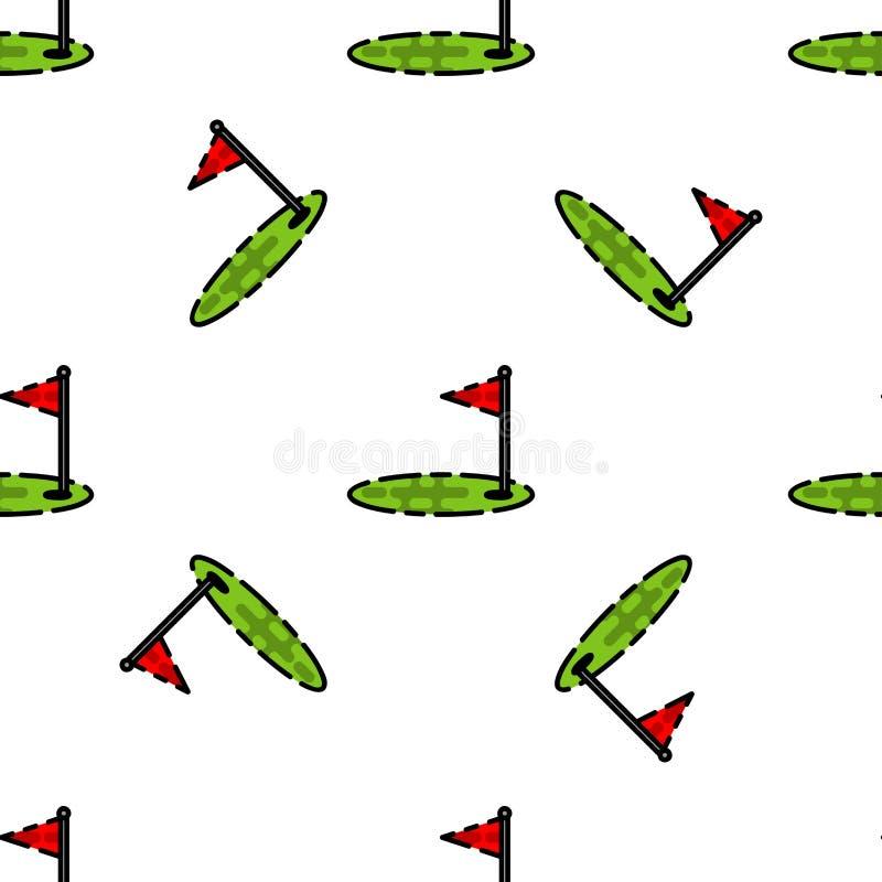 Modello piano di golf illustrazione di stock