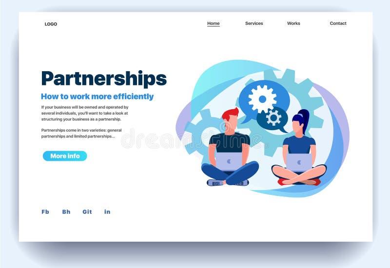 Modello piano di progettazione della pagina Web per le associazioni illustrazione vettoriale
