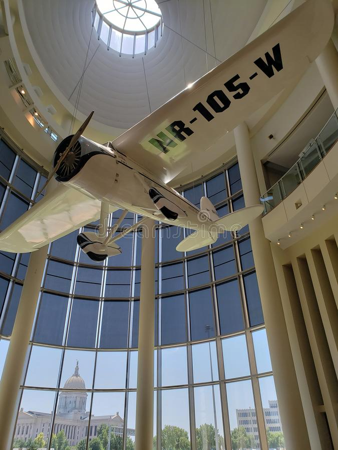 Modello piano nel centro U.S.A. di storia di Oklahoma immagine stock libera da diritti
