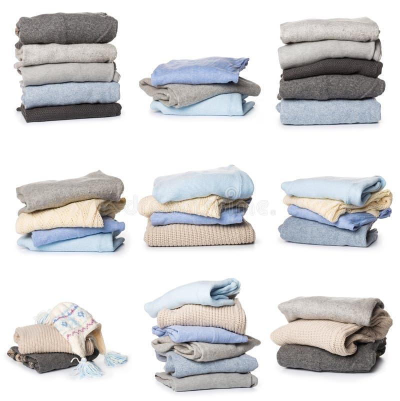 Modello piegato del maglione su fondo bianco immagini stock libere da diritti