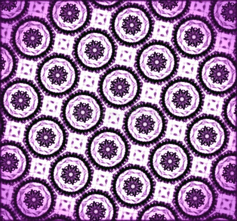 modello porpora e bianco geometrico disegnato a mano illustrazione vettoriale
