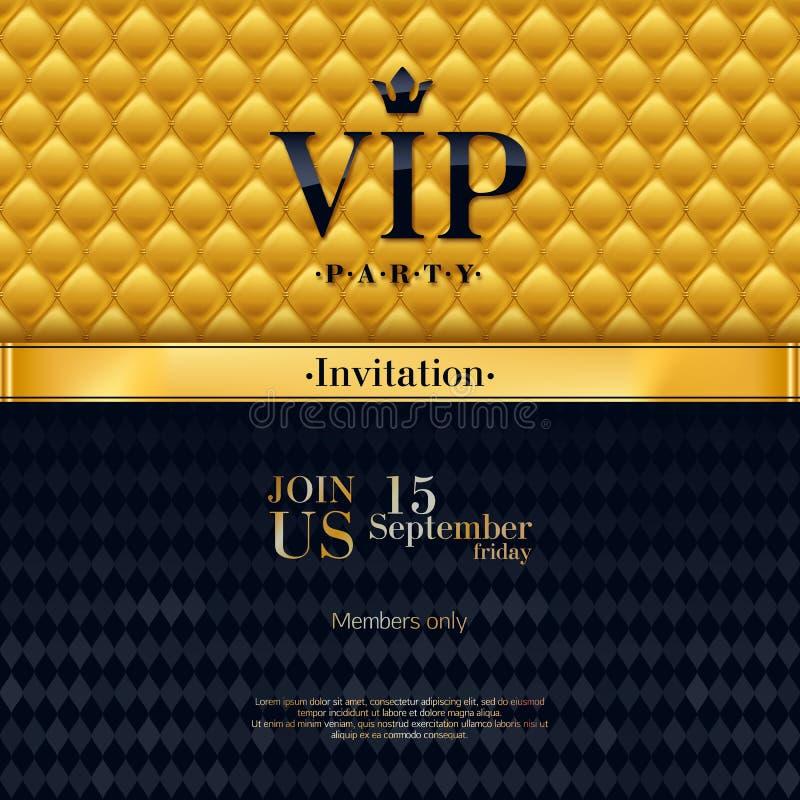 Modello premio del fondo di progettazione dell'invito di VIP royalty illustrazione gratis
