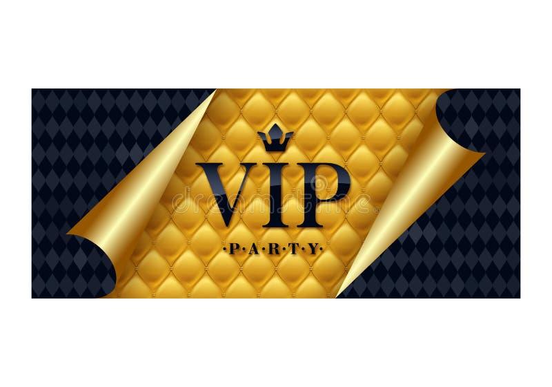 Modello premio di progettazione della carta dell'invito di VIP illustrazione di stock
