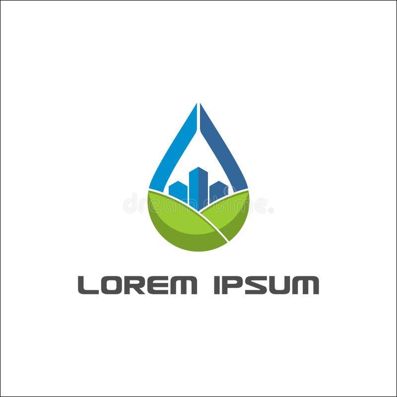 Modello professionale di logo di goccia di vettore astratto dell'olio illustrazione di stock