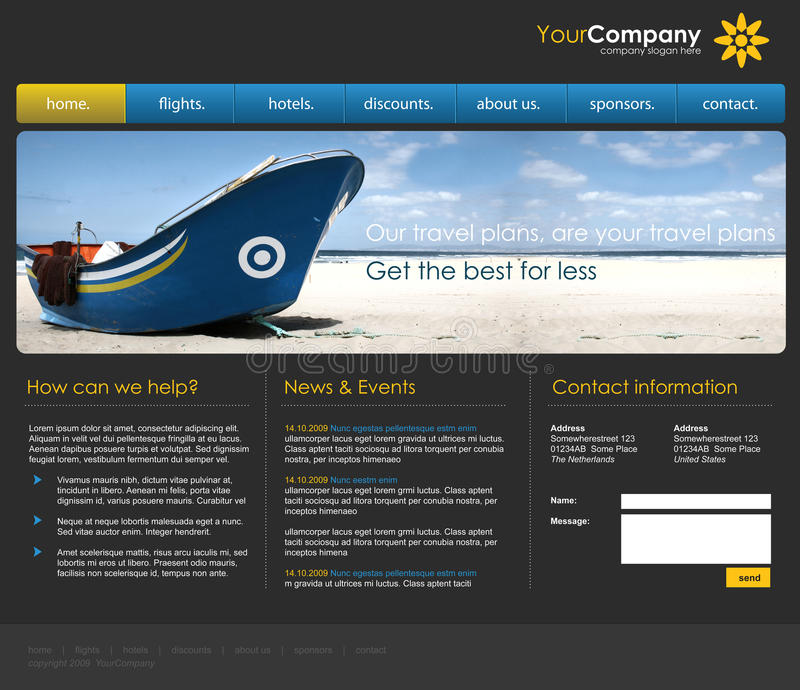 Modello professionale di Web site fotografie stock libere da diritti