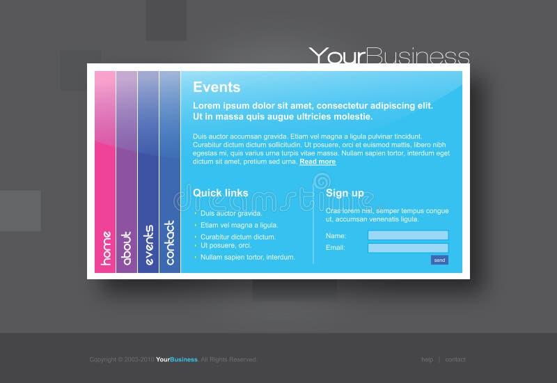 Modello professionale di Web site illustrazione di stock