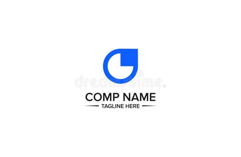 Modello professionale e corporativo di logo dell'estratto di tatto illustrazione vettoriale