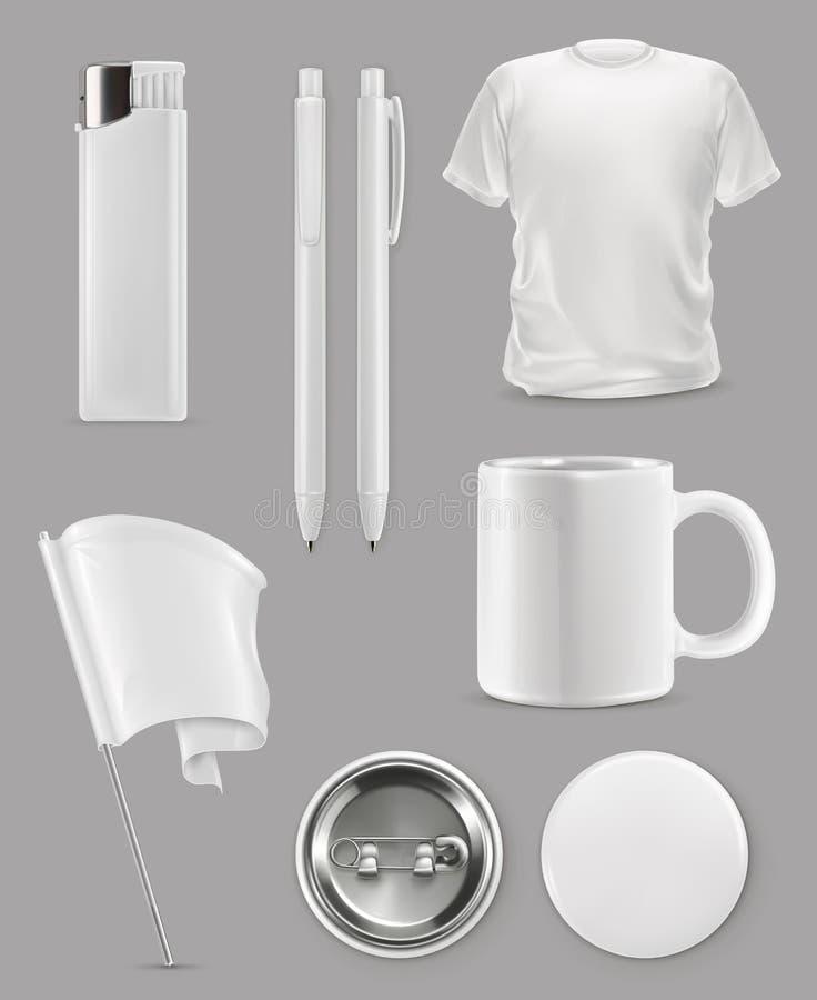 Modello promozionale degli oggetti illustrazione vettoriale