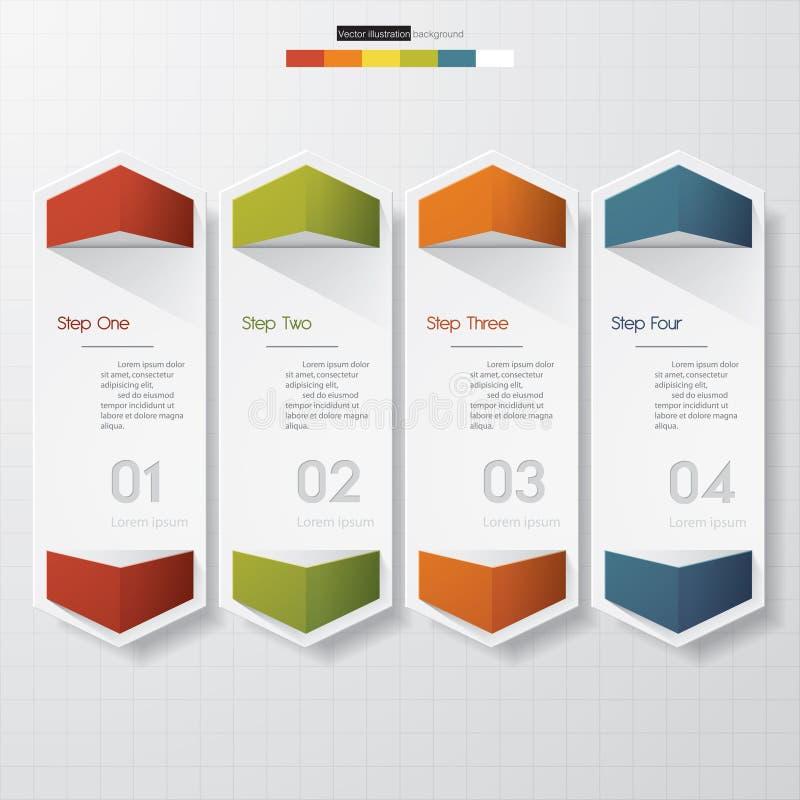 Modello pulito delle insegne di numero di progettazione illustrazione di stock