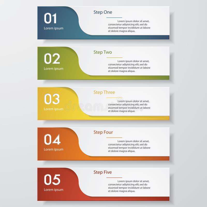 Modello pulito delle insegne di numero di progettazione Vettore royalty illustrazione gratis