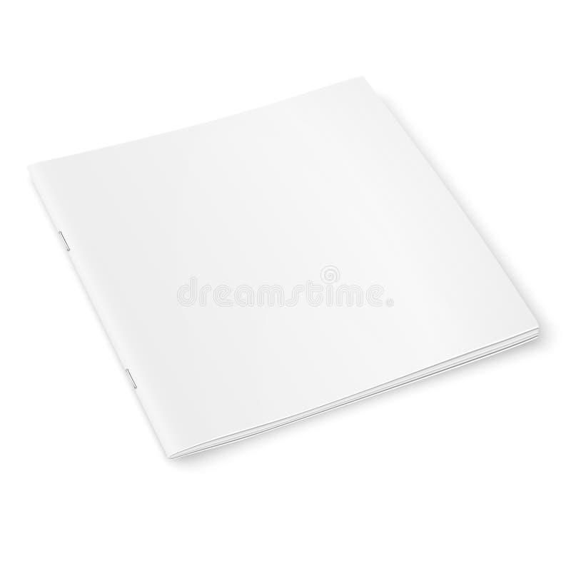 Modello quadrato in bianco della rivista con le ombre molli royalty illustrazione gratis