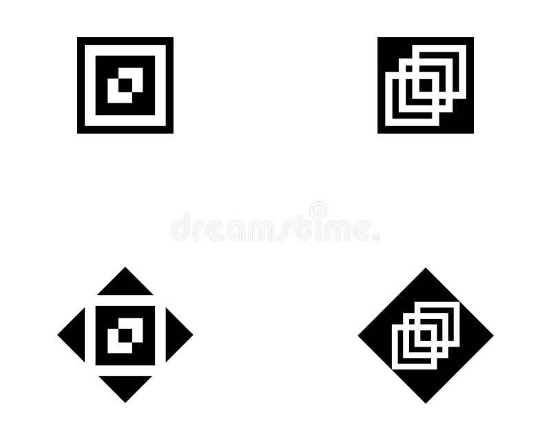 modello quadrato di progettazione dell'illustrazione di vettore dell'icona illustrazione vettoriale