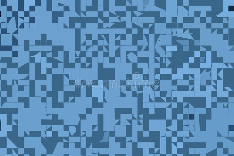 Download Modello Quadrato Geometrico Casuale Ed Irregolare Blu Astratto Di Progettazione Del Fondo Illustrazione di Stock - Illustrazione di modello, decorazione: 117977577