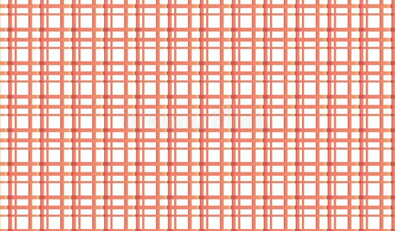 Modello a quadretti rosso astratto moderno semplice della maglia fotografia stock