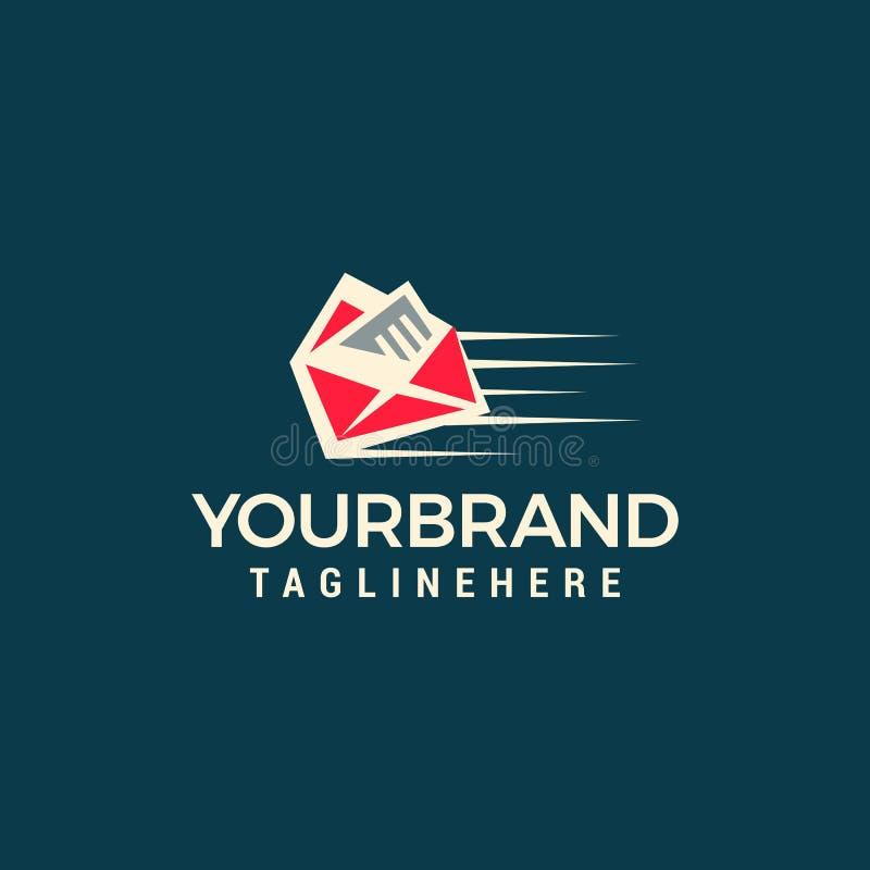Modello rapido di logo della posta illustrazione di stock