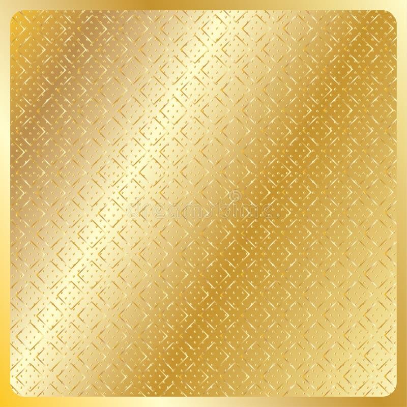 Modello reale dell'oro geometrico illustrazione vettoriale