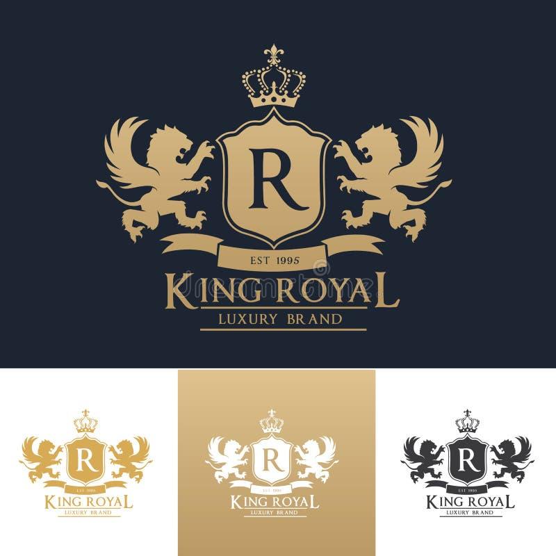 Modello reale di logo di re illustrazione di stock