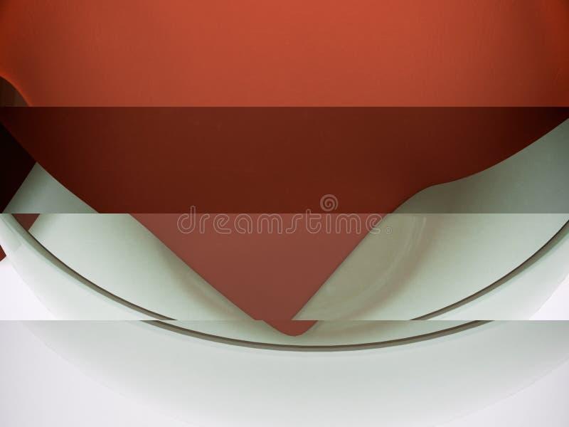 Modello realistico 3D di un contenitore di vetro e di un napk strutturato del tessuto fotografia stock libera da diritti