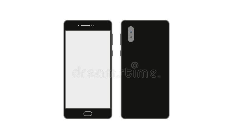 Modello realistico dei dispositivi del touch screen del telefono cellulare di Android royalty illustrazione gratis