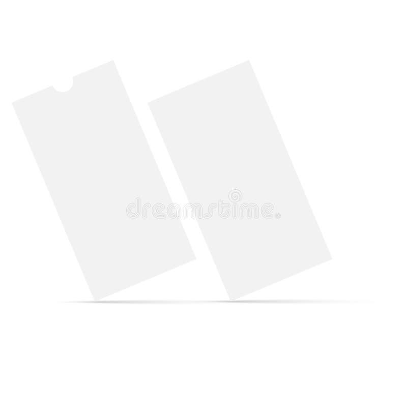 Modello realistico dell'aletta di filatoio di DL Vettore illustrazione di stock