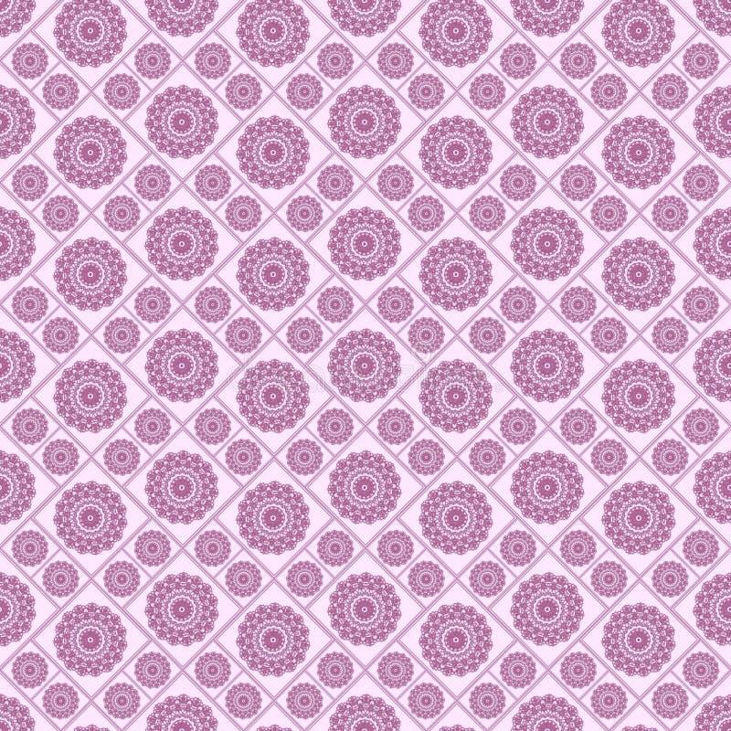 Modello regolare senza cuciture con i fiori rosa Fondo regolare fotografia stock