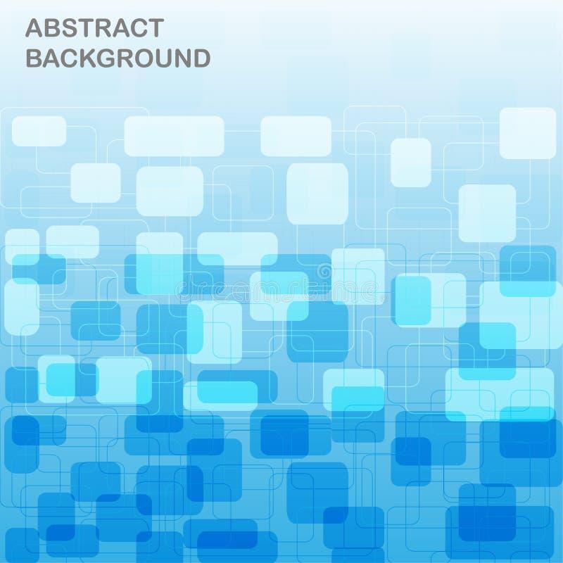 Modello rettangolare ad un fondo blu illustrazione di stock