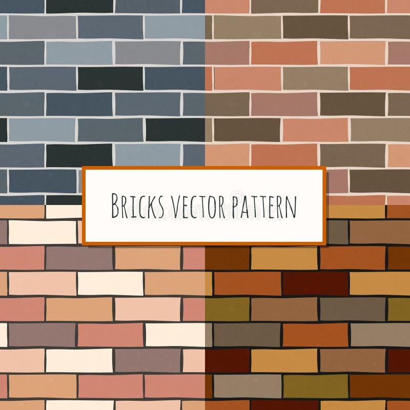 Modello rettangolare del muro di mattoni senza cuciture royalty illustrazione gratis